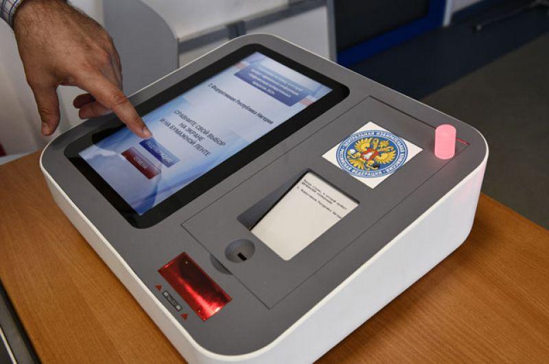 Цифровой избирательный участок для электронного голосования на выборах в Московскую городскую Думу.
