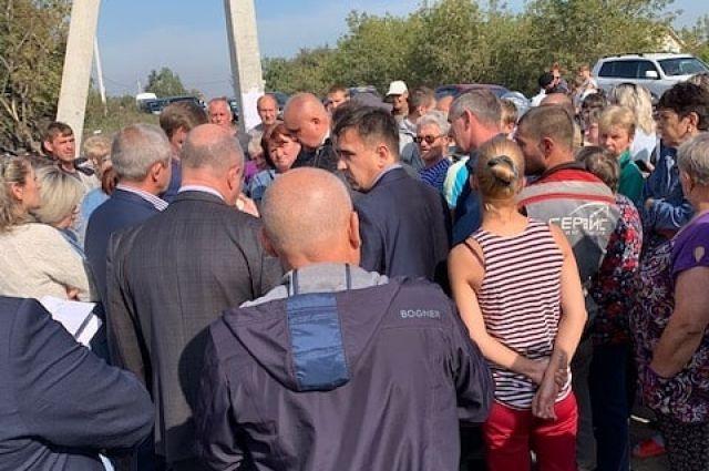 8 сентября Сергей Цивилев встретился с горожанами на месте происшествия.
