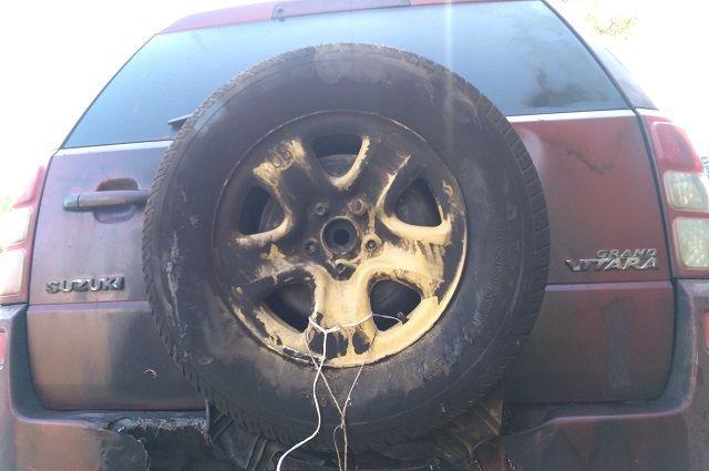 Пострадала задняя часть автомобиля.