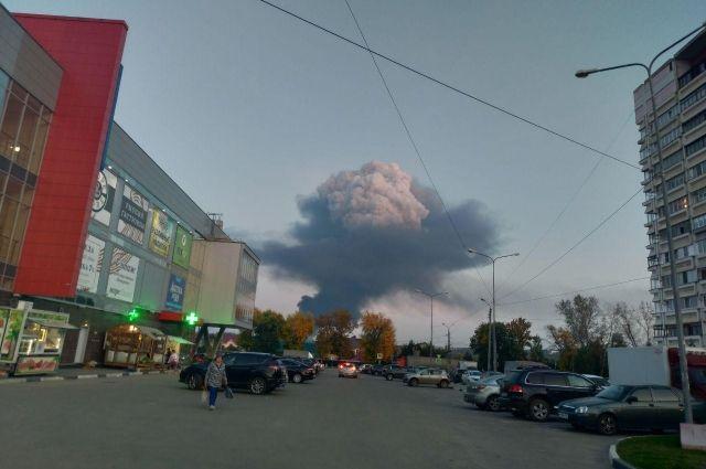 Дым от пожара видно в Нижнем Новгороде