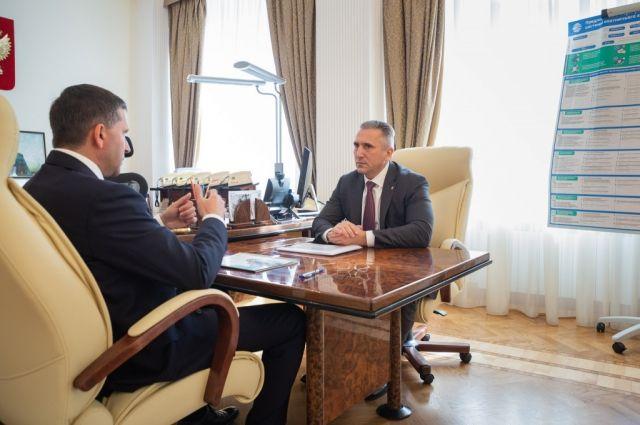 Александр Моор обсудил с главой Минприроды порядок обращения с ТКО
