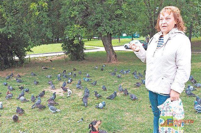 Галина Крылова каждый день навещает своих любимцев – голубей.
