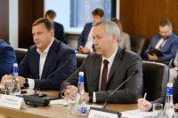 Андрей Травников на встрече с Германом Грефом