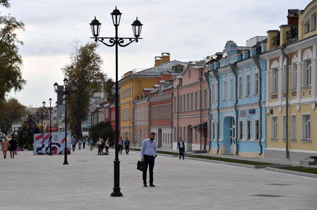 После благоустройства Школьная улица стала пешеходной.