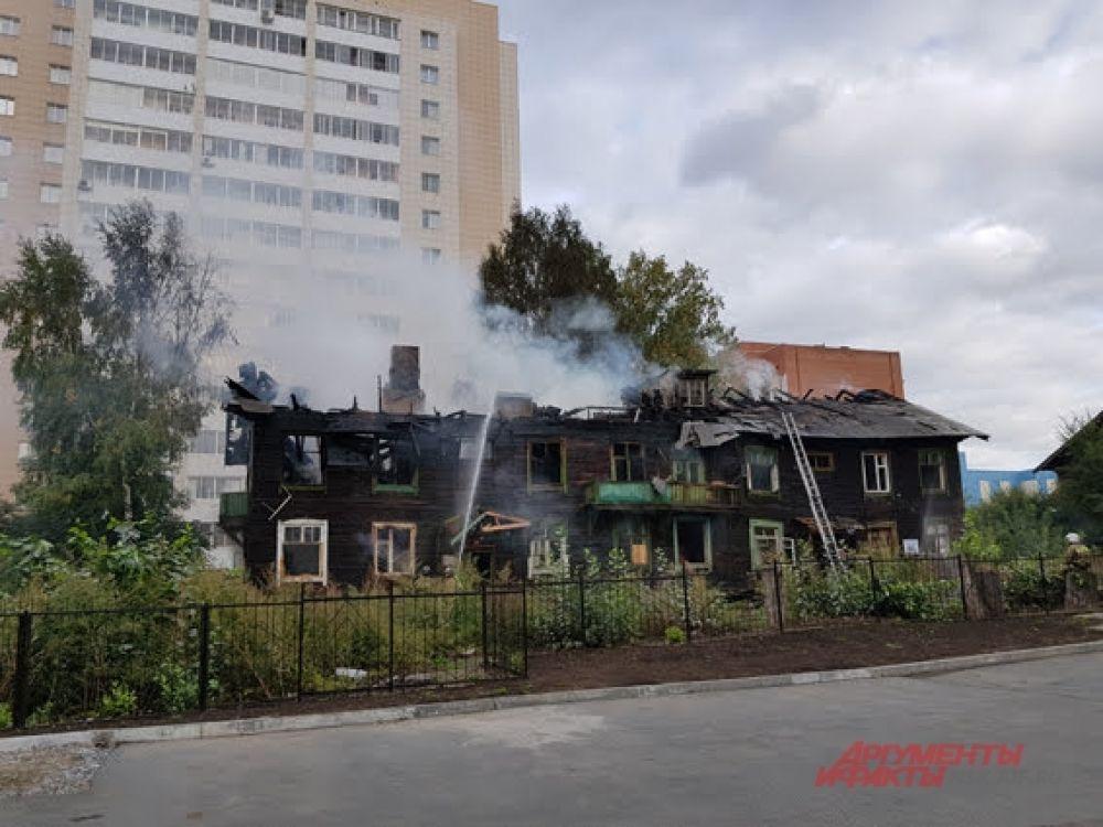 Пожар произошел днём, 12 сентября