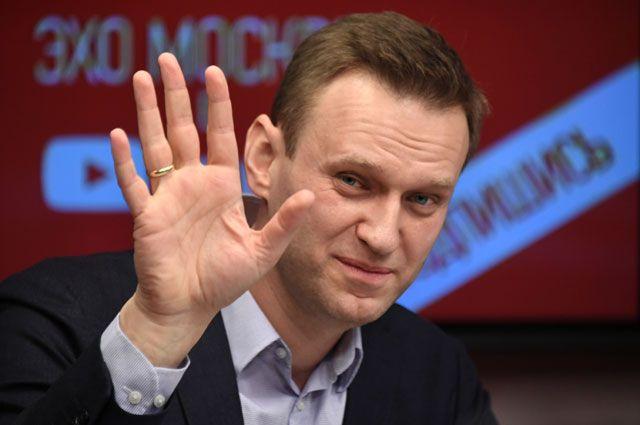 Алексей Навальный вовремя интервью вэфире радиостанции «Эхо Москвы».