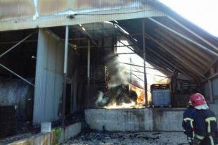 В Тернопольской области произошло возгорание на кровле одноэтажного здания