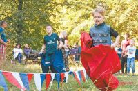 Бег в мешках был одним из видов командных соревнований.