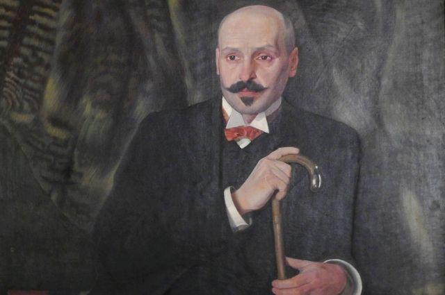 Михаил Жук. Фрагмент портрета Михаила Коцюбинского.