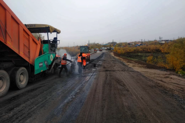 Дорожники практически завершили ремонт участка трассы Лабытнанги – Харп
