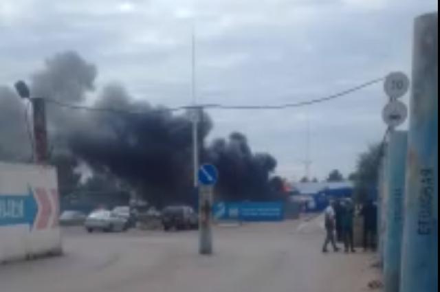 В омских Нефтяниках вспыхнула газовая заправка