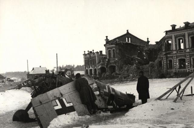 Юхнов после освобождения. 6 марта 1942 года.
