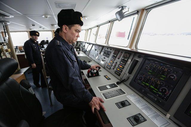 Сотрудники береговой охраны пограничного управления ФСБ России.
