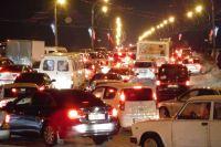 Из-за шторма и отключения электричества Тюмень встала в 9-балльные пробки