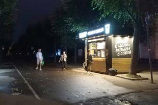 Некоторые участки одной из главных пешеходных улиц областного центра - Октябрьской революции периодически освещает только реклама.