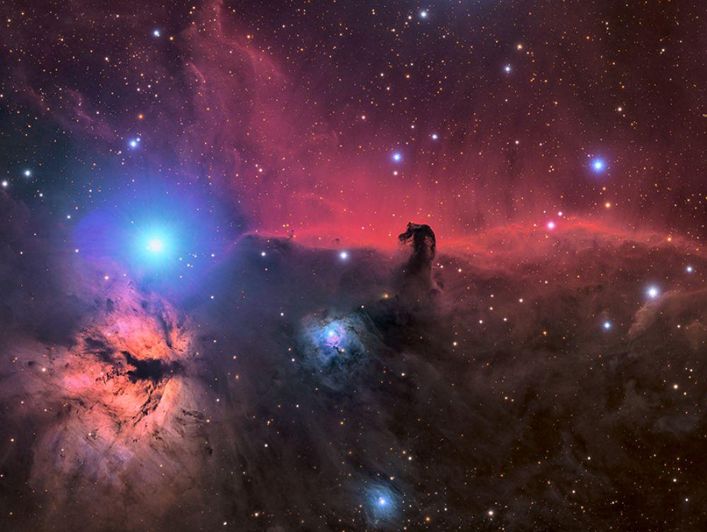 Туманности «Конская голова» и «Пламя» — номинант в категории снимков, сделанных роботизированным телескопом.
