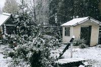 Снег падал с самого утра, - рассказывают местные жители.