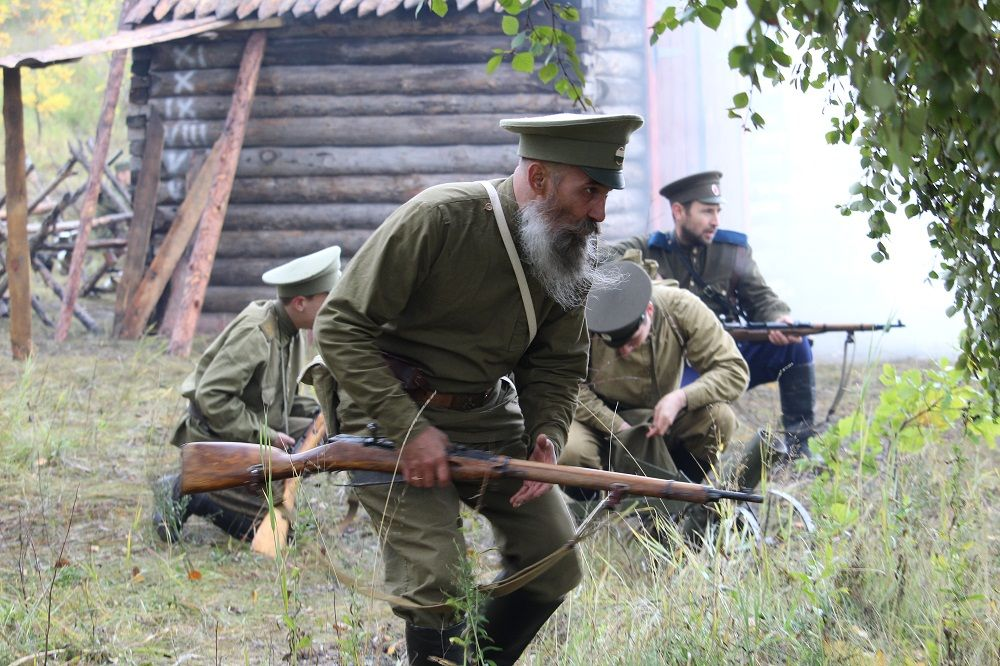 Белогвардейцы держат оборону под Челябинском
