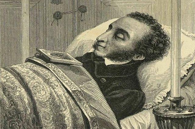А. С. Пушкин 29 января 1837 (гравюра Л. А. Серякова, 1880).