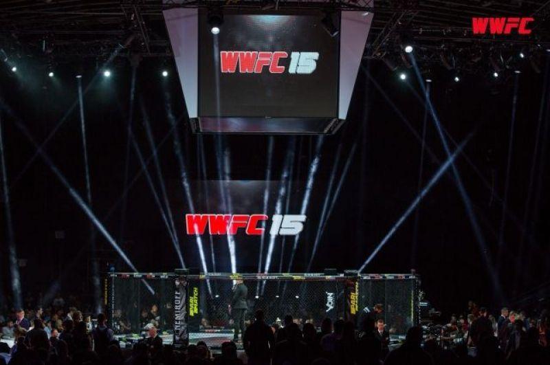 А в этом время на другом конце Киеа, в Палаце спорта, проходило грандиозное спортивное событие - международный турнир по смешанным боевым искусствам WWFC 15. Соревнования длились целый день и собрали множество фанатов единоборств.