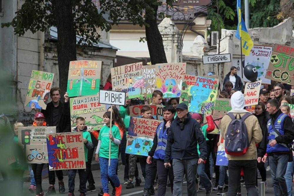 В Марше участвовало несколько сотен человек, а также прибыли гости из других городов Украины.