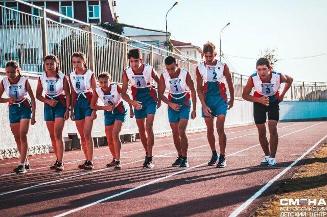 Оренбургская команда на старте 1000 метров.