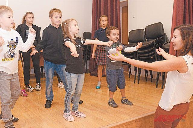 На занятиях студии «Театр мюзикла» дети становятся настоящими актёрами.