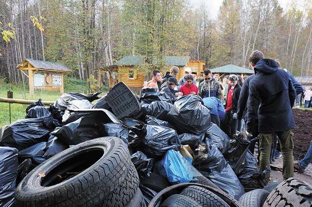 В этом году ребята собрали почти в два раза больше мусора, чем в прошлом.