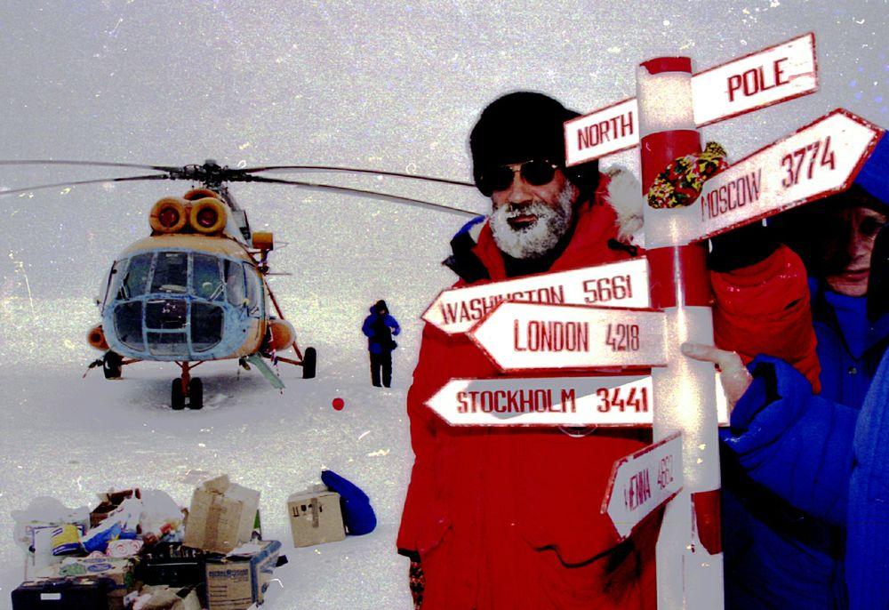 Артур Чилингаров на дрейфующей ледовой станции «Барнео» в Арктике, 2017 год.