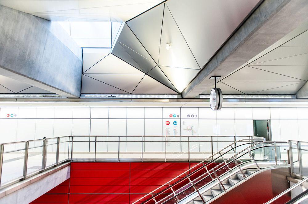Центральная станция метро Копенгагена за несколько дней до открытия новой кольцевой линии.