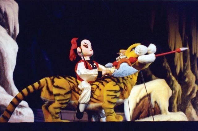 Чэнь Сян и священная тигрица Ань Да Сянь.