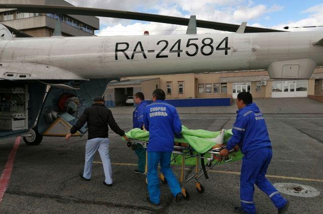 В Оренбурге дважды за последние сутки использовалась санавиация для доставки из Орска