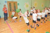 Тренировка старшей группы детсадовцев вГБОУ «Школа №1883».