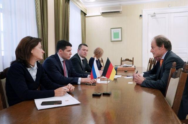 Антон Алиханов встретился с новым генконсулом Германии в Калининграде