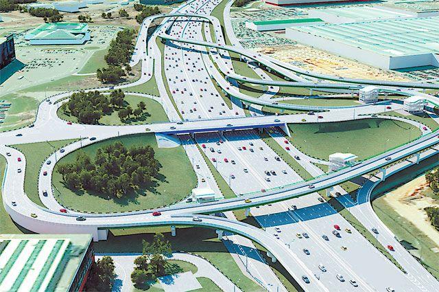 Таким станет «место встречи» МКАД, улицы Верхние поля и Новоегорьевского шоссе. В выигрыше будут и те, кто едет по окружной, и те, кому надо на вылетную магистраль.