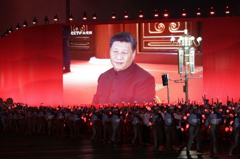 Глава КНР Си Цзиньпин выступает с речью.