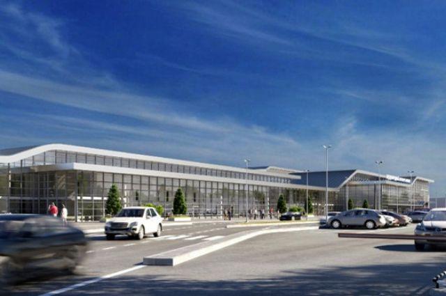 Вариант реконструкции павильона для международных авиалиний в Барнауле.