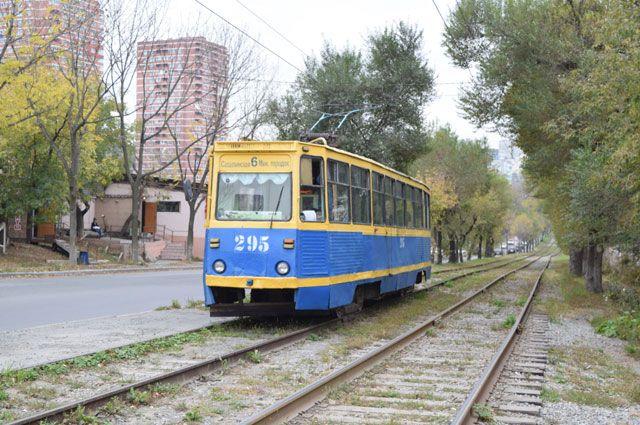 Трамвай во Владивостоке. Архивное фото.