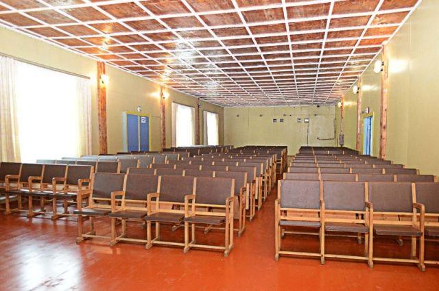 Отремонтированный зрительный зал в ДК деревни Носково.