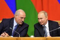 Президент Белоруссии Александр Лукашенко ипрезидент РФВладимир Путин.