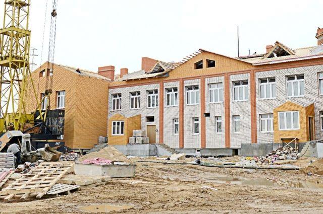 Строящееся здание детского сада в Алтуховке.