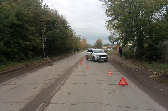 Школьница перебегала дорогу в неположенном месте.
