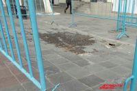 В Оренбурге над котлованом «Атриума» появился новый провал.