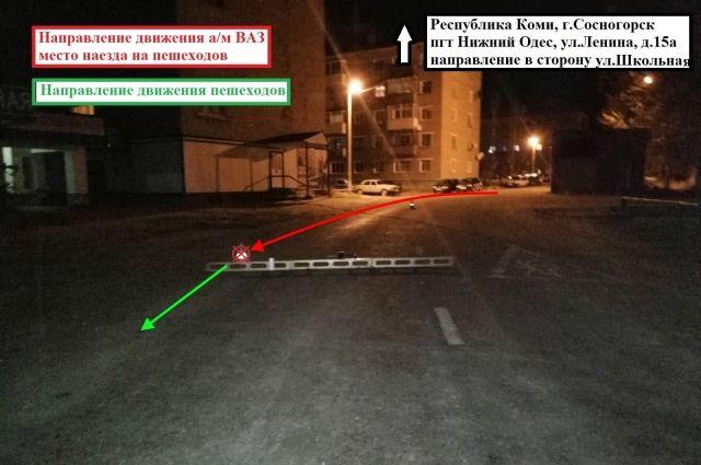 В Сосногорске под колёса отечественного ВАЗ попали два 13-летних мальчика.