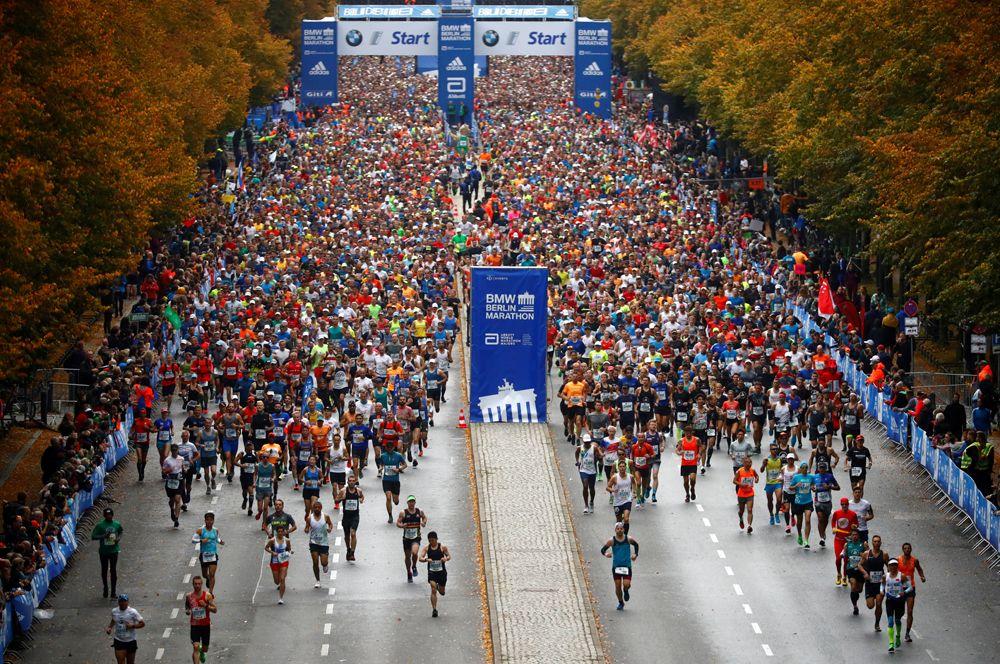 Участники Берлинского марафона.