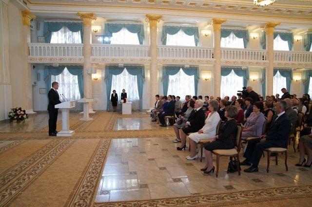 Награждение учителей в Доме республики.