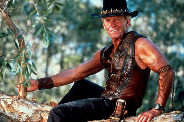 Пол Хоган в образе Майкла «Крокодила» Данди.