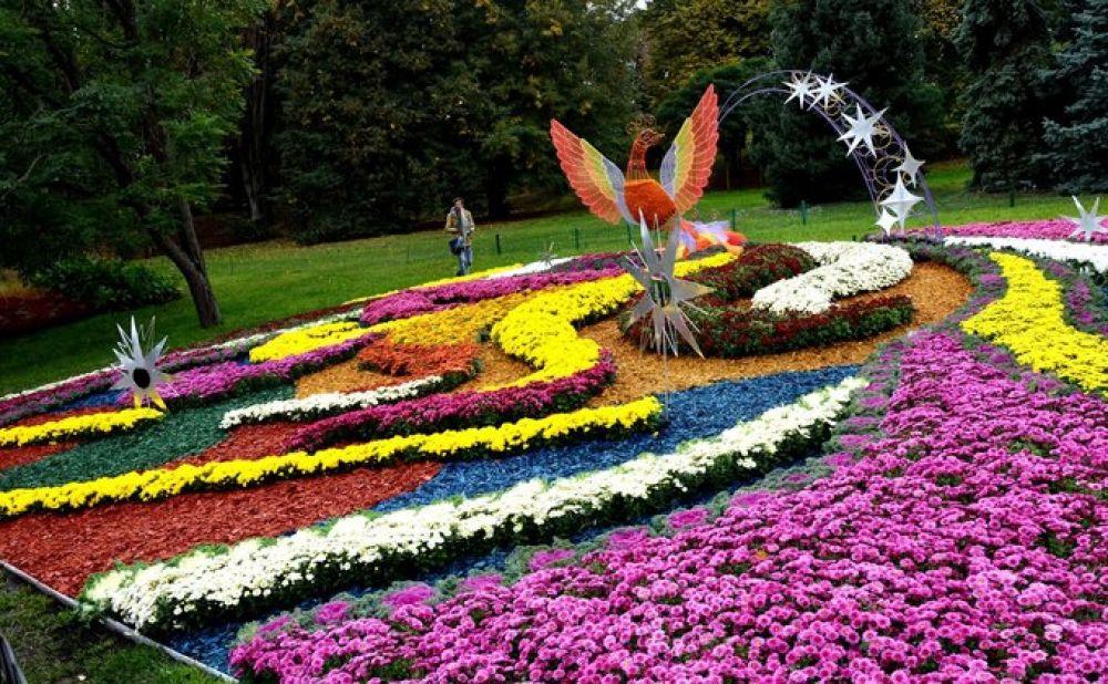Еще одним ярким, цветочным и природным событием стала выставка хризантем в Печерском ландшафтном парке. 10 цветочных композиций - и каждая со своим особым смыслом.