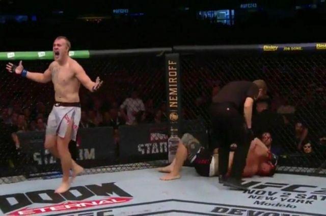 Украинец Сергей Спивак одержал первую победу в UFC