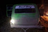"""""""Плохой мальчик"""" (надпись на стекле машины) после ДТП сбежал в лес - хотел отсидеться."""